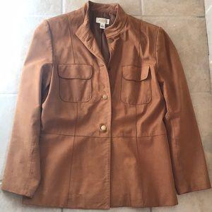 Talbots Leather Jacket. Size 12.